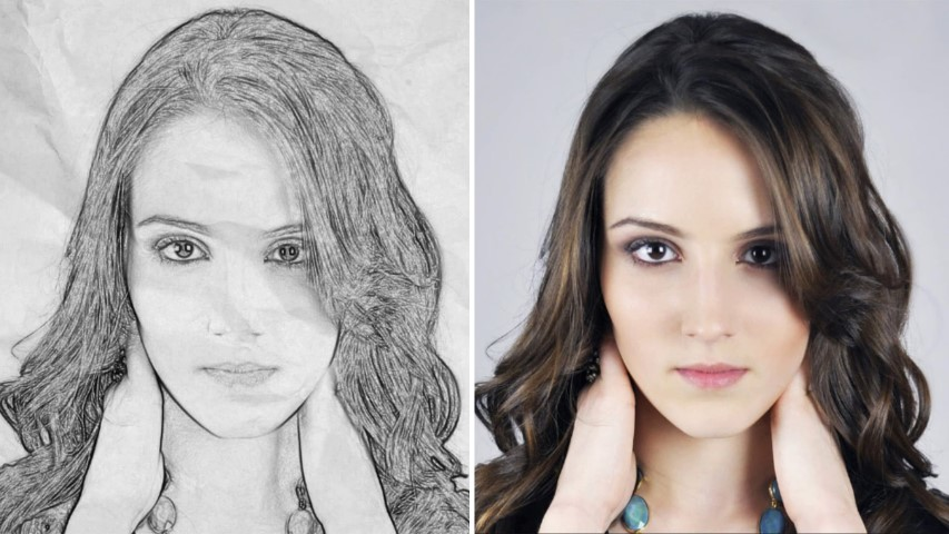 How to Change any photos into pencil sketch in Photoshop