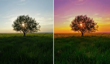 How to Create Colorful Sunset Landscape Tutorial in Photoshop