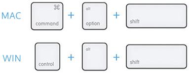 photoshop keyboard-mac-win
