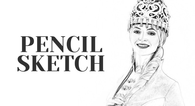 pencil sketch photoshop action free download 1 (Custom)