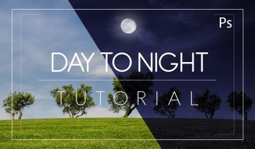 How to Create Night Scene from Day Photo in Photoshop Tutorial