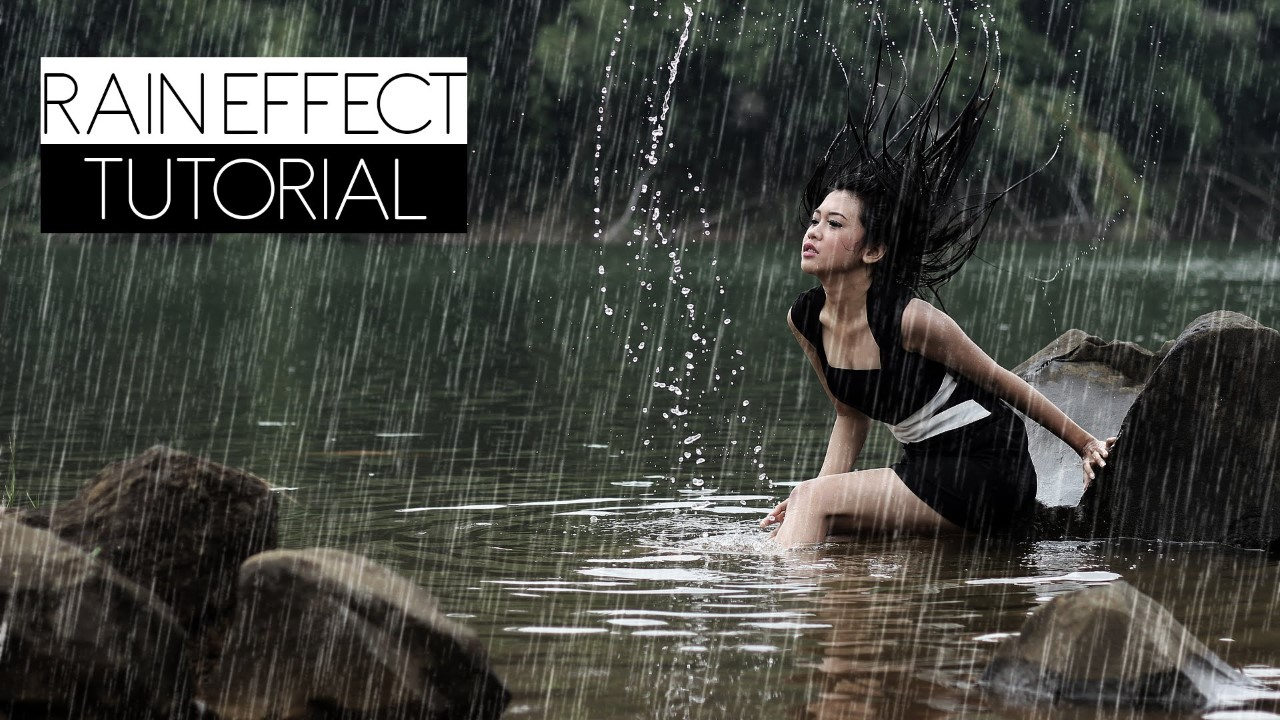 How to Create Realistic Rain Effect in Photoshop Tutorial