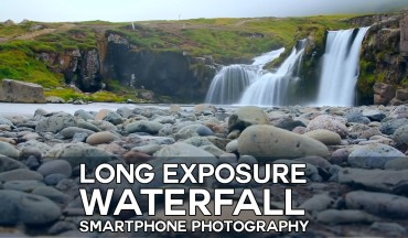 How to Create Long Exposure Waterfall with Smartphone Photography in Photoshop Tutorial