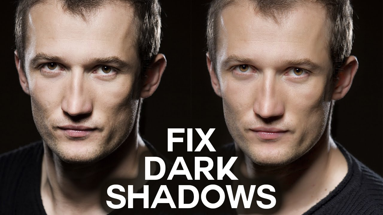 How to Fix Dark Shadows from Portrait Photography Photoshop Tutorial