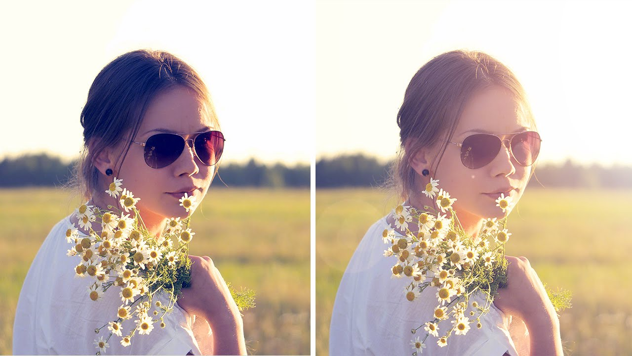 How to Add Lens Flare Light Burst Effect in Photoshop With Non Destructive Method Tutorial PSD