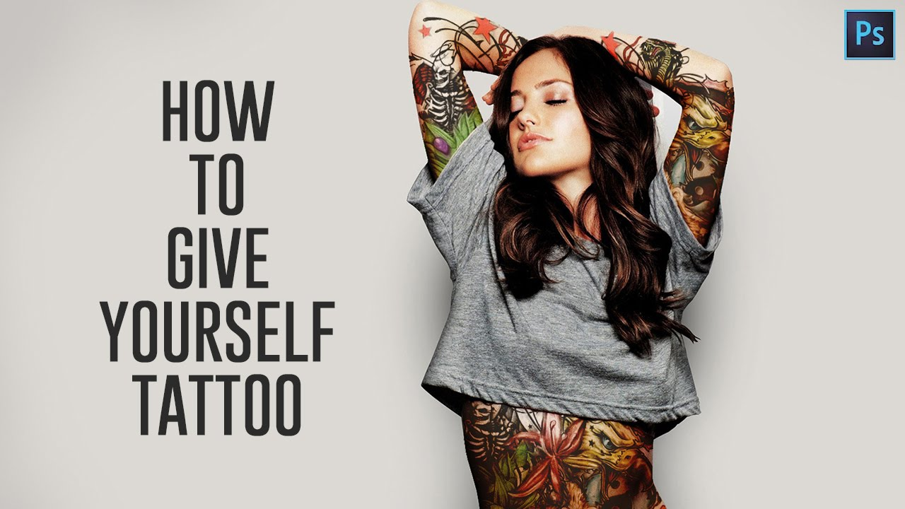How to Create Realistic Body Tattoo in Photoshop Tutorial