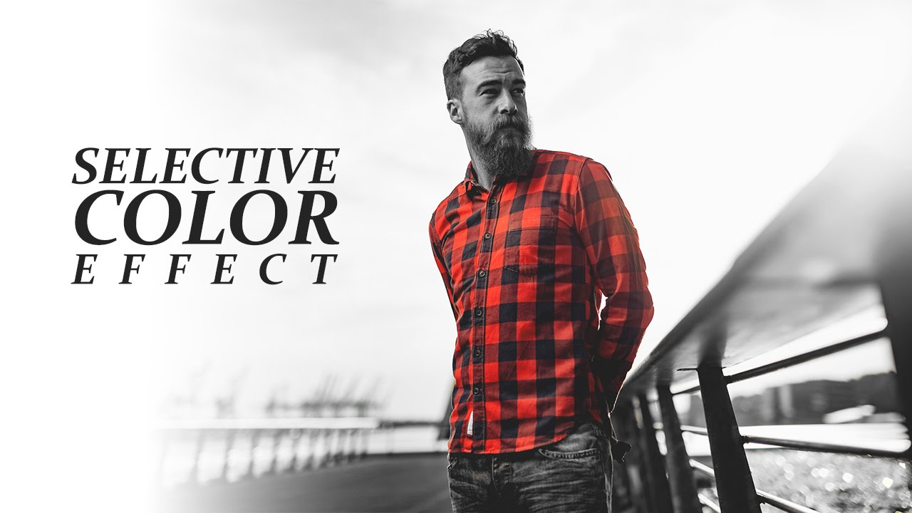 How to Create Splash Color Effect or Selective with brush replacement tool in photoshop tutorial
