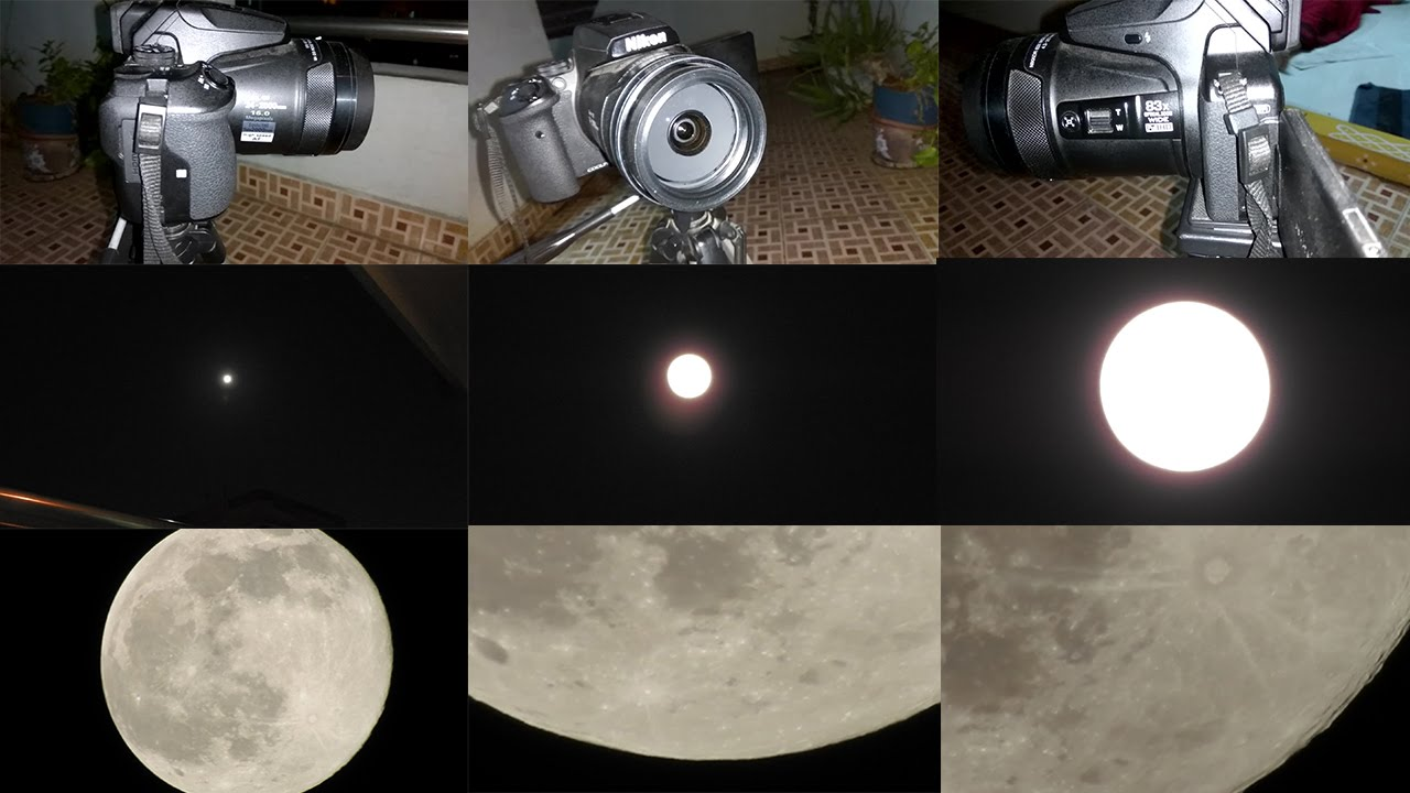 Moon Close-up Shooting- Nikon Coolpix P900 Ultra High Power Zoom | 24mm - 8000mm in 35mm Format