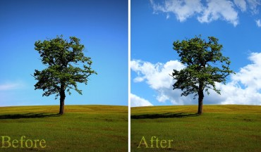 How to Replace a Cloud Sky Easily using Blend If Tool in Photoshop