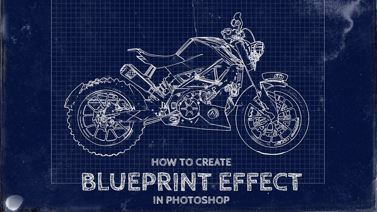 How to turn photos into fake blueprint effect in photoshop psdesire malvernweather Choice Image