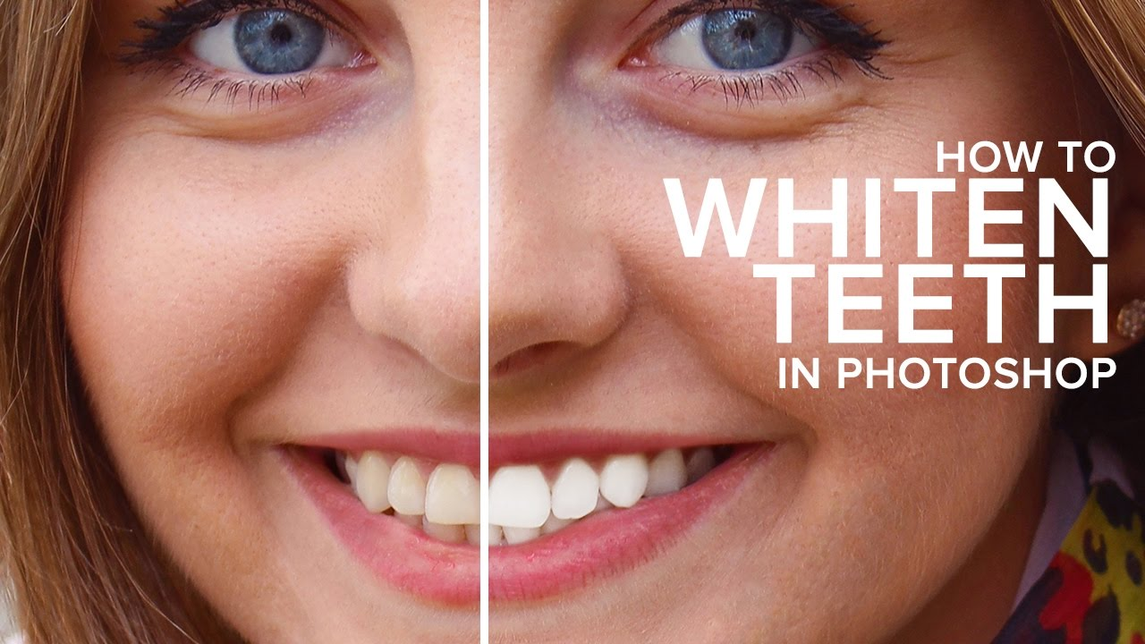 How to Easily Whiten & Brighten Teeth Retouching in Photoshop