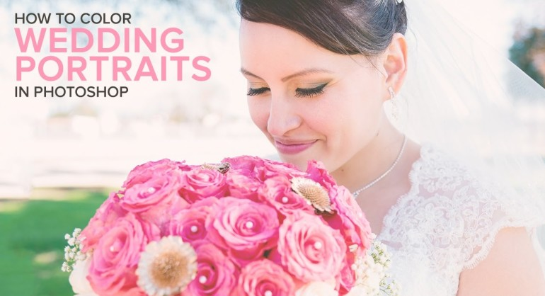 how to Easily Add a Sweet Color to a Wedding photos in photoshop