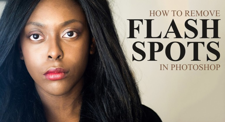 How To Remove Camera Flash HotSpots Reflections in Portrait with Photoshop