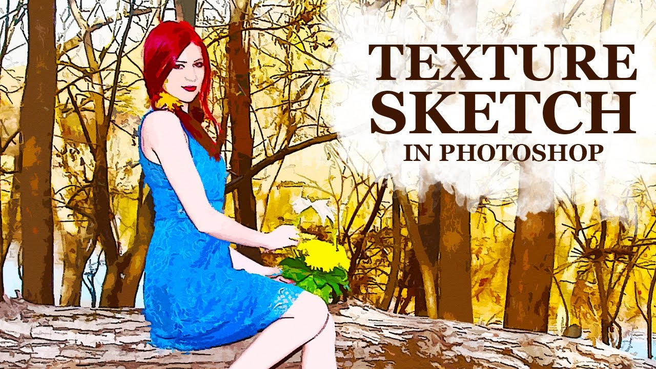 How to Create Textured Sketch Effect in photoshop