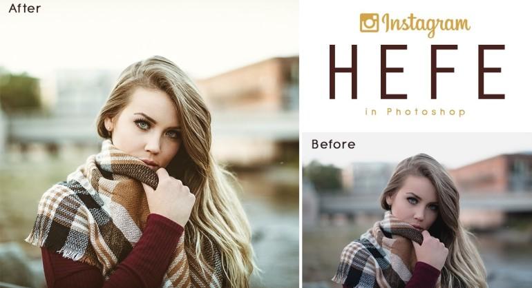 Instagram Hefe Color Tone Effect in Photoshop