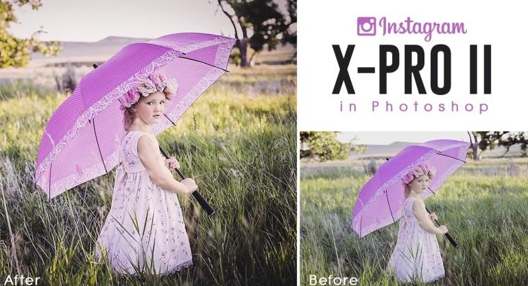 Instagram X-Pro II Color Grade Effect in Photoshop