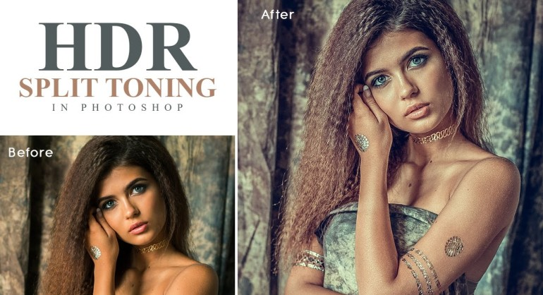 How to Create HDR Split Toning Portrait in Photoshop