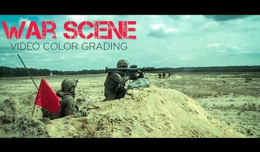 Photoshop Tutorial - War Scene Color Grading DSLR Footage