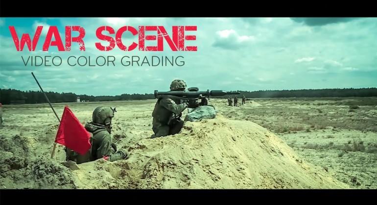 Photoshop Tutorial - War Scene Color Grading DSLR Footage