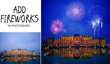How to Add Fireworks to Image in Photoshop Tutorial