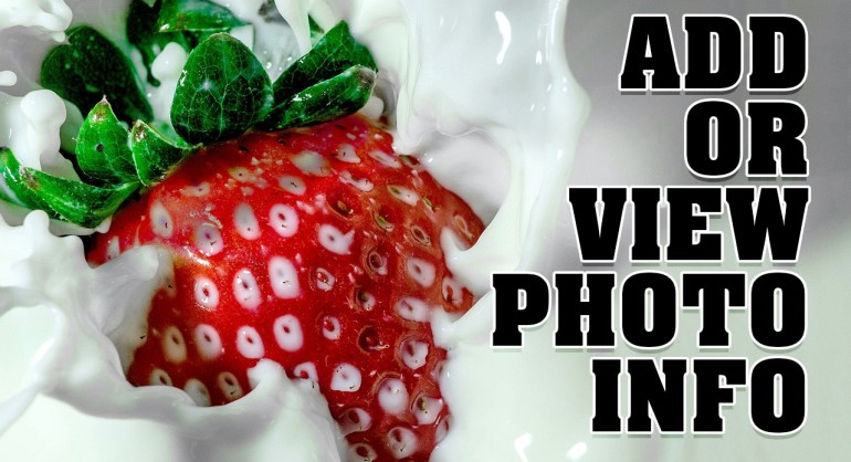 How to Add or View Photo Copyright info in Photoshop