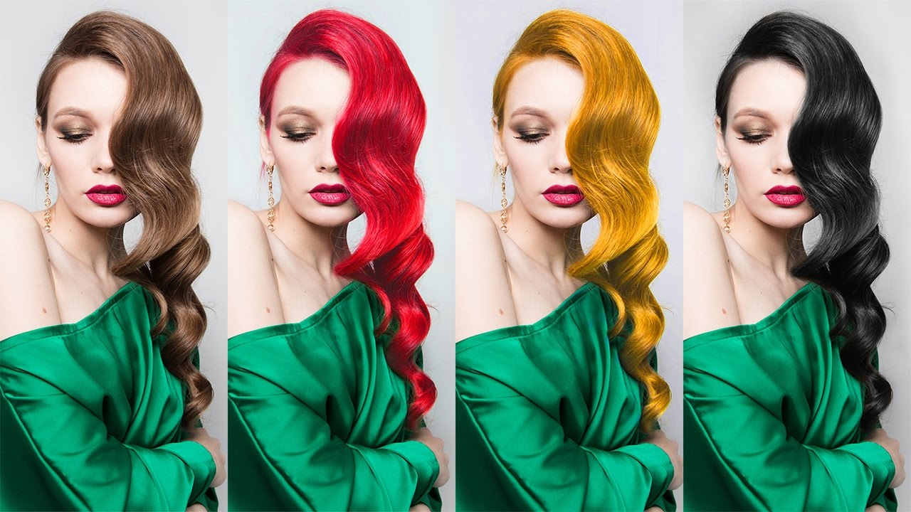 How to Change Hair Color in Photoshop [Red - Blonde - Black - Brown]