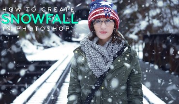 How to Create Realistic Falling Snow to a Photo in Photoshop
