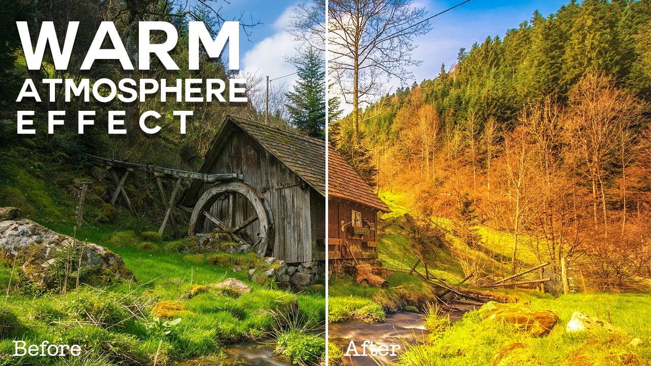 How to Create Vibrant Warm Atmosphere Effect in Photoshop