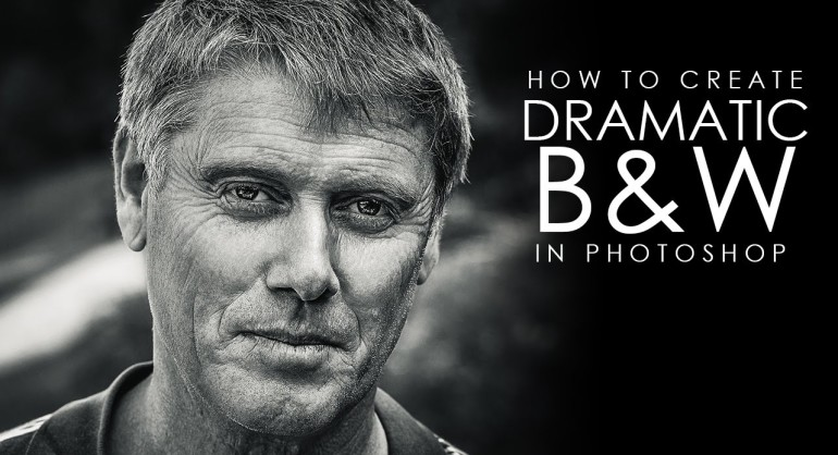 How to Create Dramatic Black & White Portrait in Photoshop