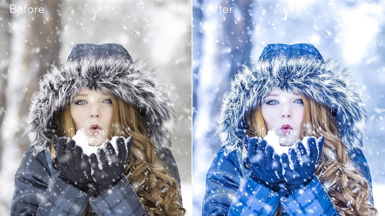 How to Create HDR Bluetone Winter photographs in Camera Raw