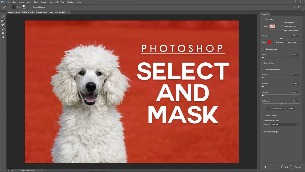 How to Use Select and Mask Easily in Photoshop - Beginner's Guide