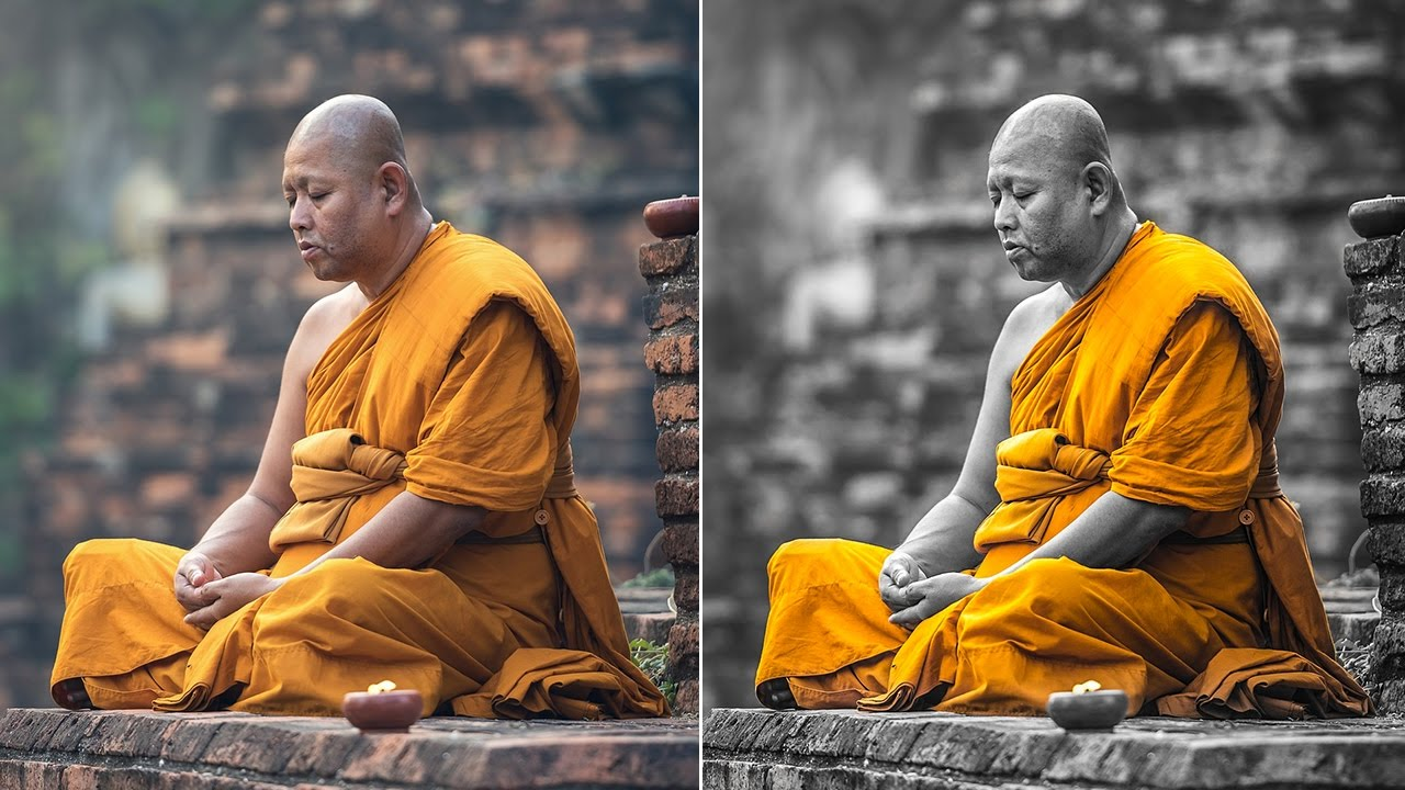 Selective Area Color Splash Effect in Photoshop & Lightroom