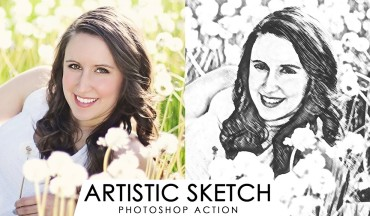 Artistic Sketch Effect Photoshop Action [Crayon Pencil Drawing]