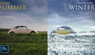 Change Summer Photo to Snowfall Winter Scene in Photoshop