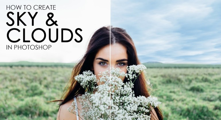 How to Create Blue Sky with Clouds in Photoshop