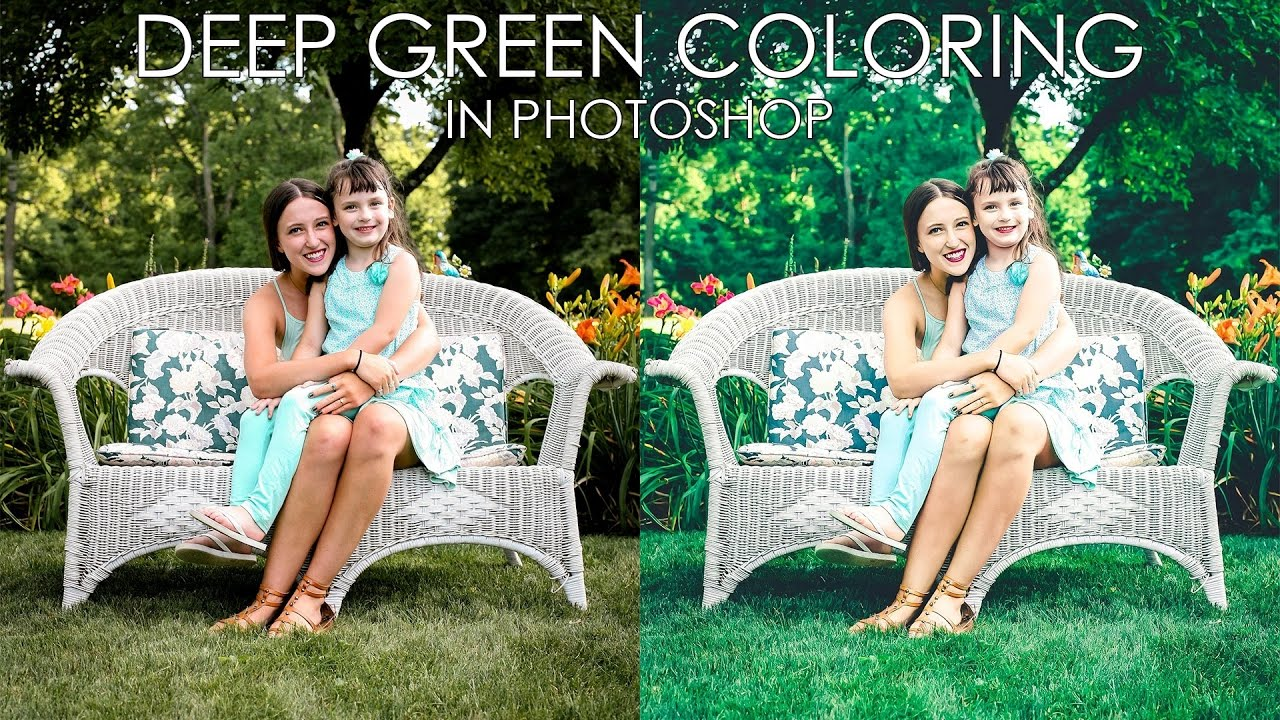 How to Create Deep Green Outdoor Photos in Photoshop - Color Effects Tutorial