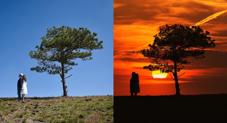 How to Create Sunset Silhouette Photo Effect in Photoshop