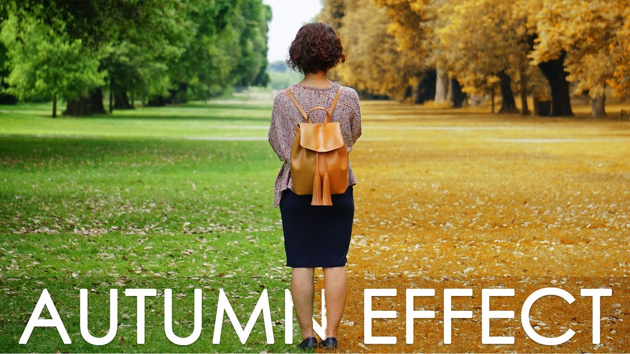 Spring to Autumn Color Effect - Photoshop Tutorial with Action