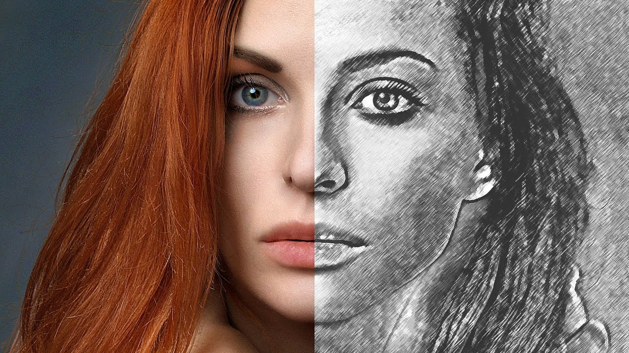 Transform Any Photos into Artistic Sketch Effect in Photoshop