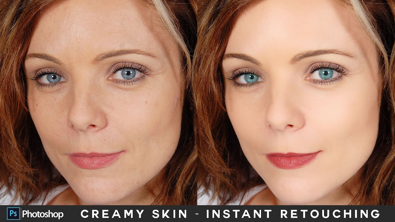 Creamy Light Skin - Instant Face Retouching in Photoshop