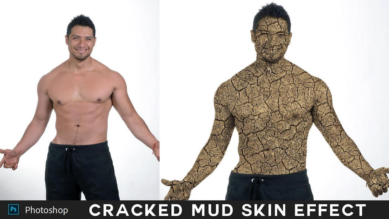 How to Change Person Skin into Cracked Mud Effect in Photoshop