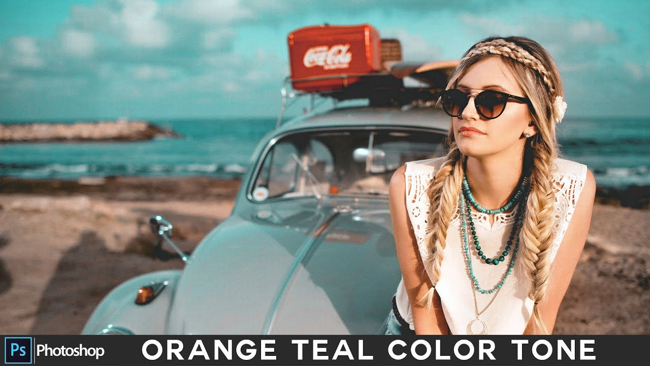 How to Create Fashion Orange and Teal Look in Photoshop