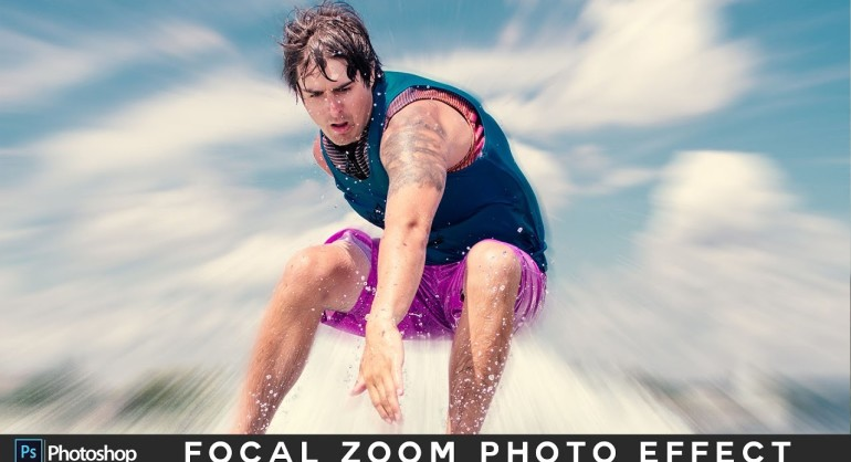 How to Create Focal Zoom Photo Effect in Photoshop