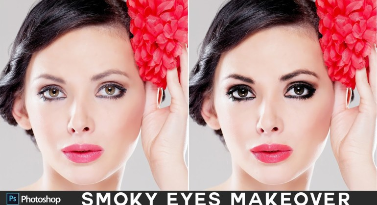 How to Create Smokey Eyes (Shadow & Mascara) in Photoshop