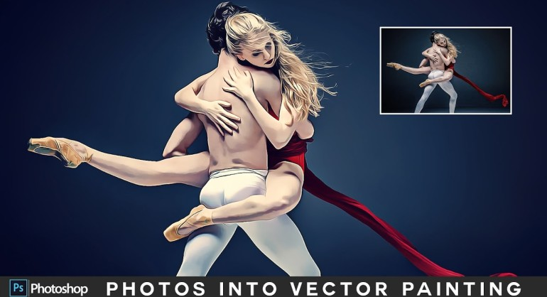 How to Create Vector Painting Photo Effect in Photoshop