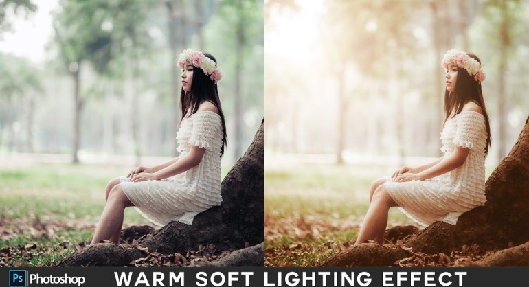 How to Create Warm Soft Light Sunset Effect in Photoshop