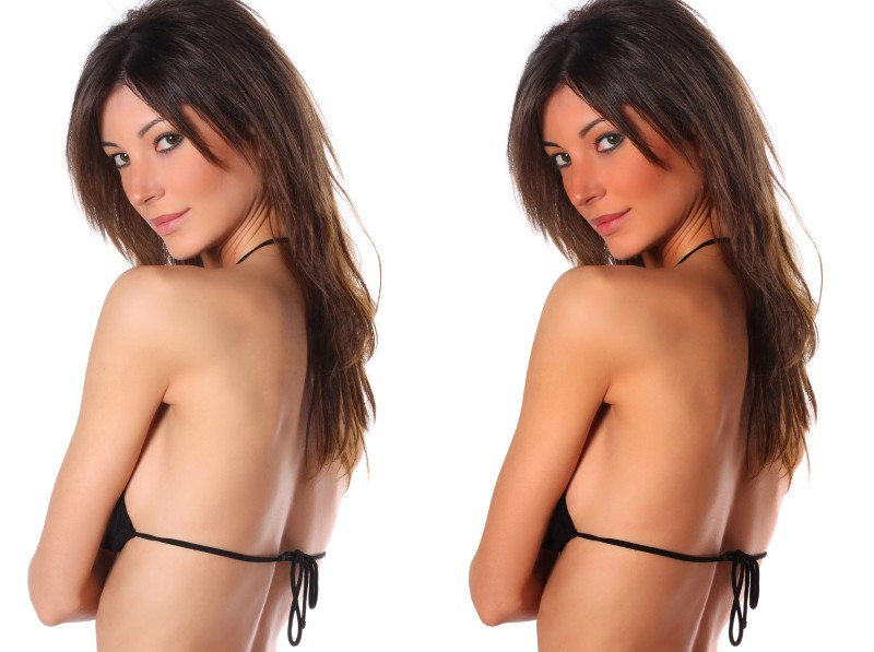 How to Get Skin Tan and Bronzer in Photoshop (before and after)