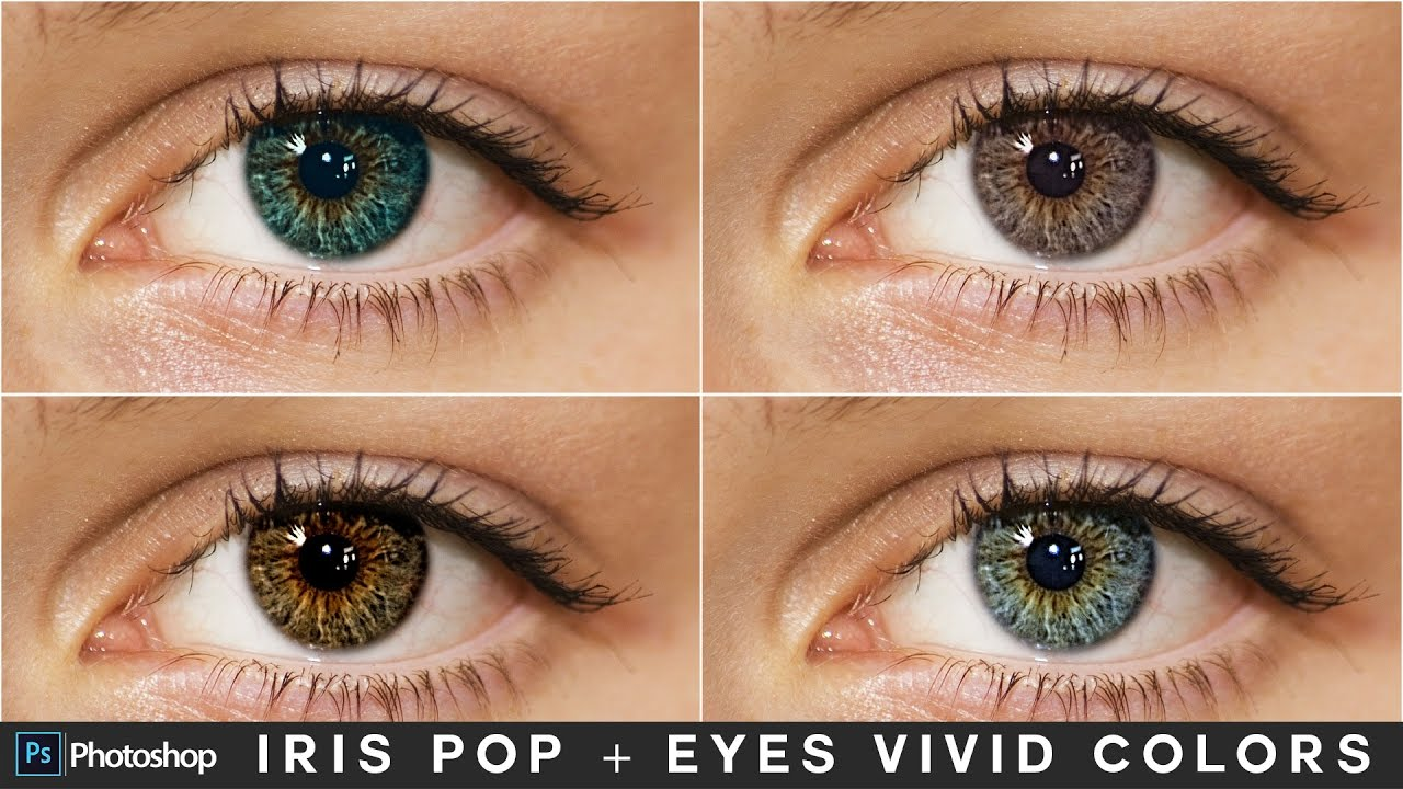 How to Make Iris Pop & Colorize Eyes in Photoshop