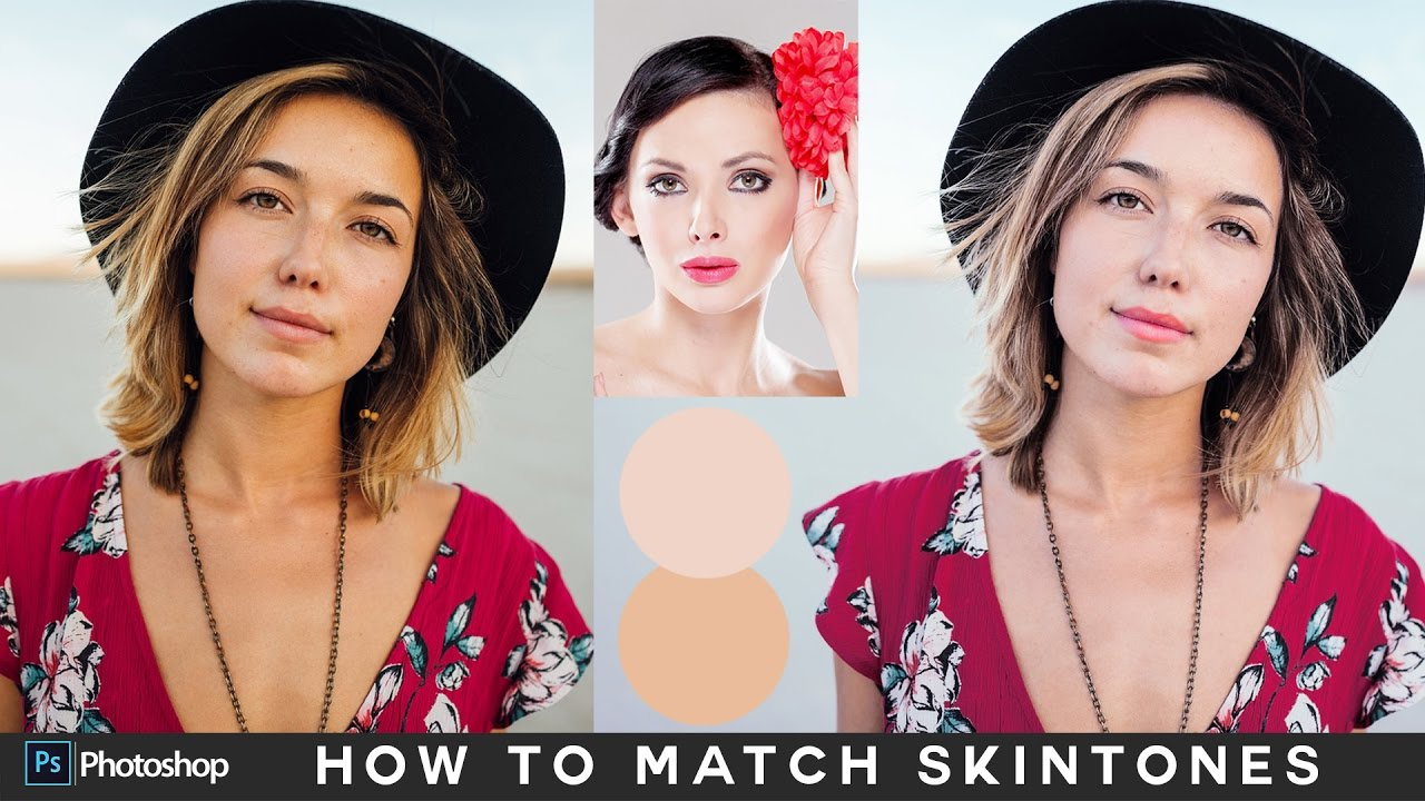 How to Match Skin Tones - Change Skin Color in Photoshop