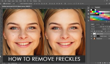 How to Remove Freckles from Skin in Photoshop Tutorial